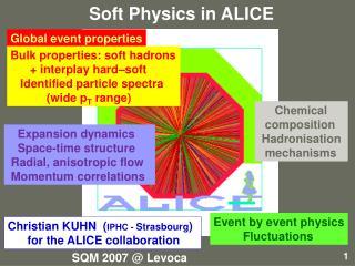 Soft Physics in ALICE