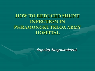 VP Shunt Infection