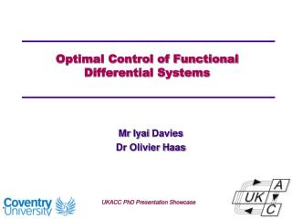 Optimal Control of Functional  Differential Systems