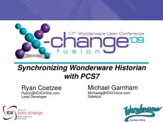 Synchronizing Wonderware Historian with PCS7