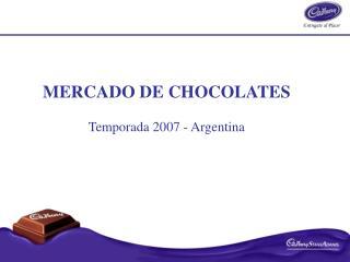 MERCADO DE CHOCOLATES Temporada 2007 - Argentina