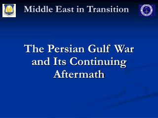 Middle East in Transition