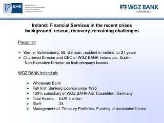 Presenter :   Werner Schwanberg, 58, German, resident in Ireland for 21 years