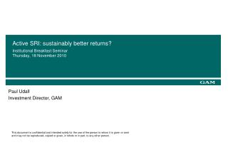 Active SRI: sustainably better returns?