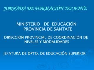 JORNADA DE FORMACIÓN DOCENTE