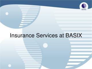 Insurance Services at BASIX