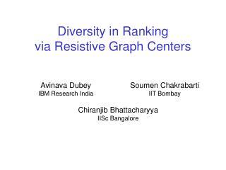 Diversity in Ranking via Resistive Graph Centers