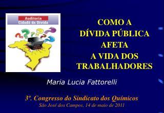 Maria Lucia Fattorelli 3º. Congresso do Sindicato dos Químicos