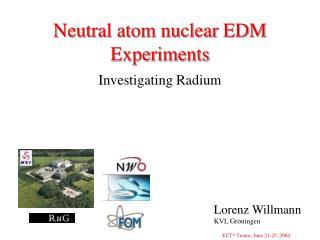 Neutral atom nuclear EDM Experiments