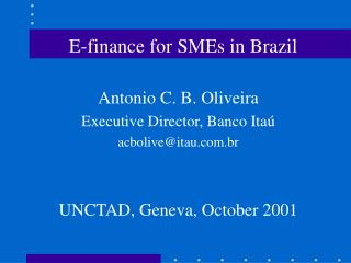 E-finance for SMEs in Brazil