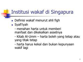 Institusi wakaf di Singapura
