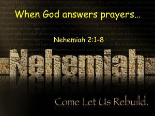 When God answers prayers�
