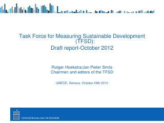 Task Force for Measuring Sustainable Development (TFSD):  Draft report-October 2012
