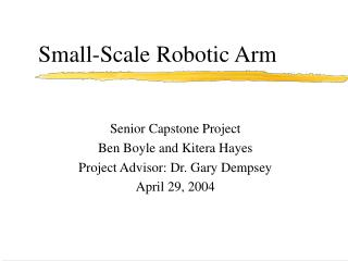 Small-Scale Robotic Arm