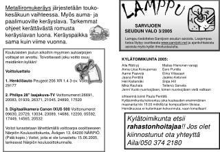 SARVIJOEN  SEUDUN VALO 3/2005