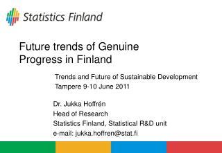 Future trends of Genuine Progress in Finland