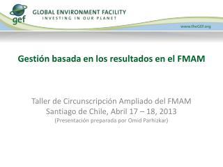 Gestión basada en los resultados en el FMAM