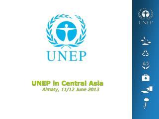 UNEP in Central Asia Almaty, 11/12 June 2013