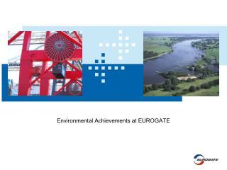 Environmental Achievements at EUROGATE Environmental ...