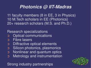 Photonics @ IIT-Madras