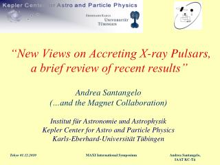 """New Views on Accreting X-ray Pulsars, a brief review of recent results"""