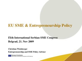 EU SME & Entrepreneurship Policy