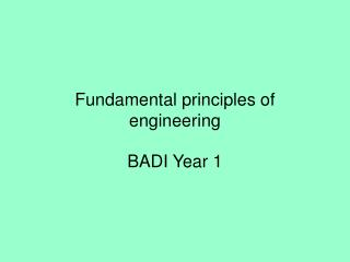 Fundamental principles of engineering
