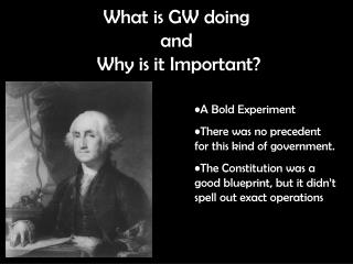 What is GW doing  and  Why is it Important?