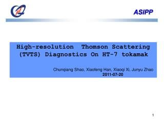 High-resolution  Thomson Scattering (TVTS) Diagnostics On HT-7 tokamak