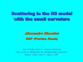 Alexandre Kisselev IHEP   ( Protvino , Russia)