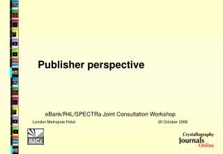 Publisher perspective