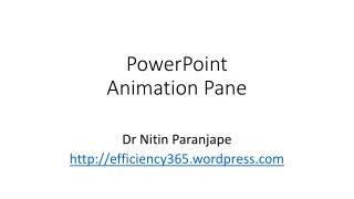 PowerPoint Animation Pane