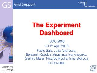 The Experiment Dashboard