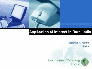 Application of Internet in Rural India