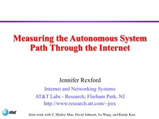 Measuring the Autonomous System Path Through the Internet