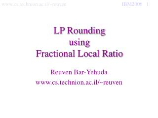 LP Rounding using Fractional Local Ratio