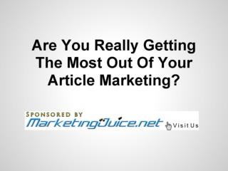Article To Video Service - Get More Website Traffic (Marketi