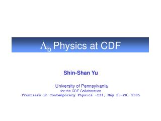 L b Physics at CDF