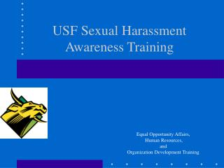 USF Sexual Harassment Awareness Training