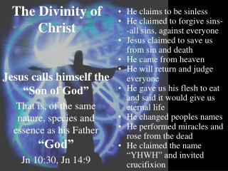 The Divinity of Christ