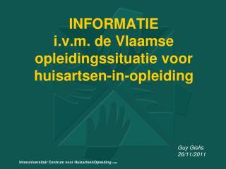 INFORMATIE i.v.m. de Vlaamse opleidingssituatie voor huisartsen-in-opleiding
