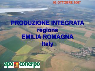 PRODUZIONE INTEGRATA regione EMILIA ROMAGNA Italy