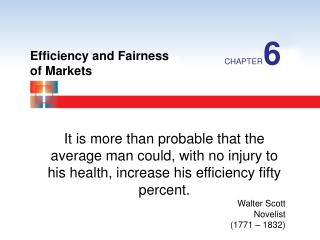 Efficiency and Fairness of Markets