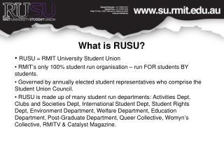 What is RUSU?