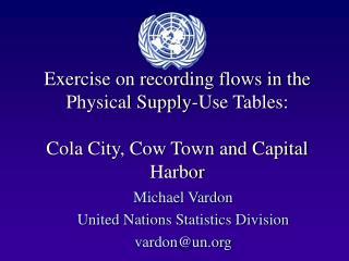 Michael Vardon United Nations Statistics Division vardon@un