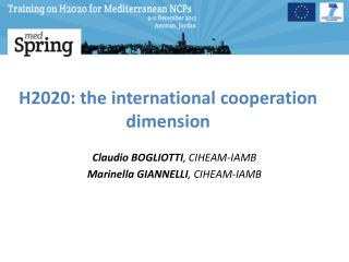H2020: the international cooperation dimension