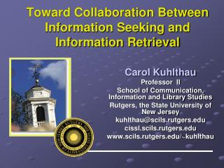 Toward Collaboration Between Information Seeking and Information Retrieval