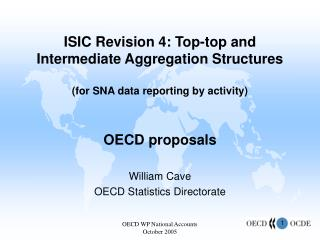 William Cave OECD Statistics Directorate