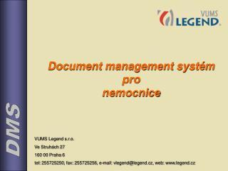 Document management systém pro  nemocnice