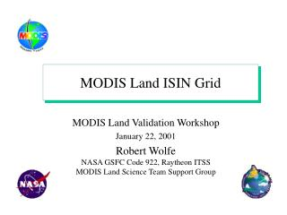 MODIS Land ISIN Grid